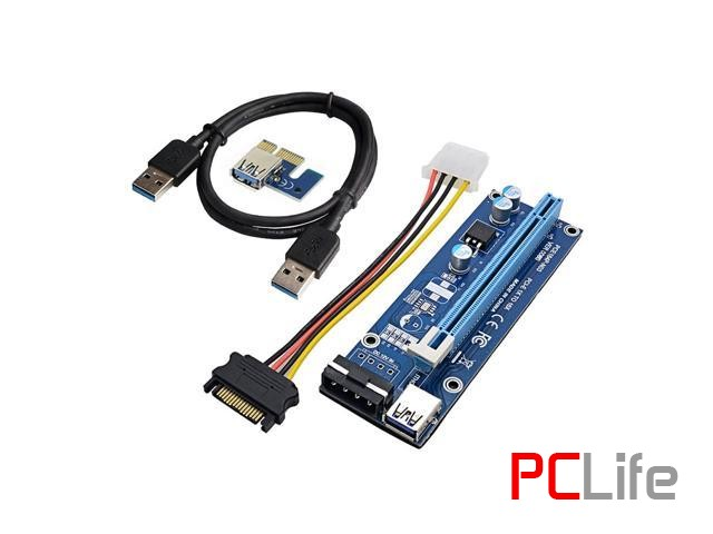 Екстендер PCI-E 1X TO 16X Graphics Extension Riser Adapter версия 006S