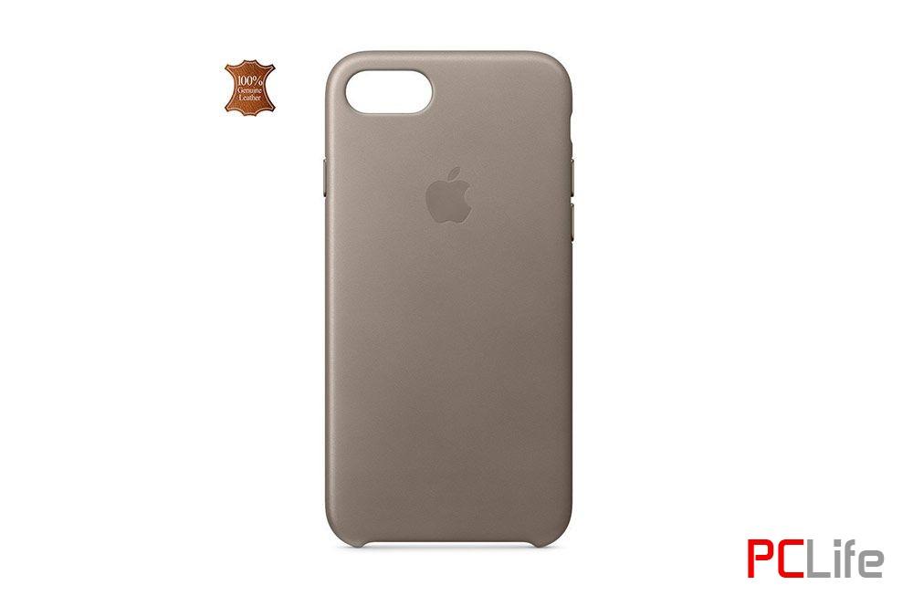 APPLE iPhone 7/8 leather case Taupe - калъф/протектор/ за iPhone 7/8