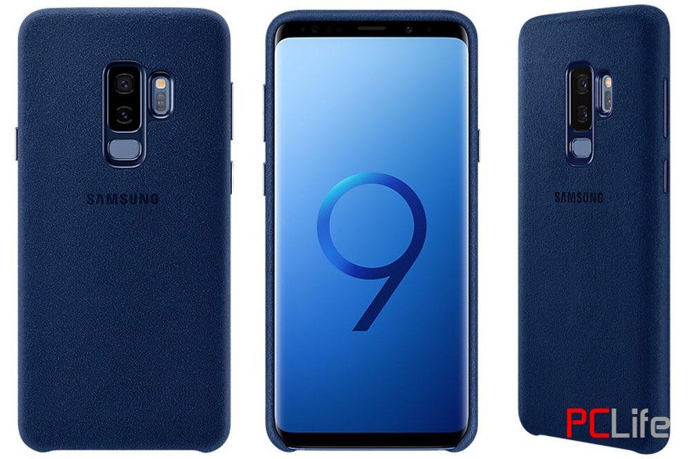 Samsung Galaxy S9+ Alcantara Cover, Blue EF-XG965ALEGWW- калъф/протектор/ за Samsung Galaxy