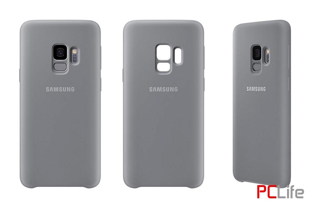 Samsung Galaxy S9 Silicone Cover, Grey EF-PG960TJEGWW - калъф/протектор/ за Samsung Galaxy