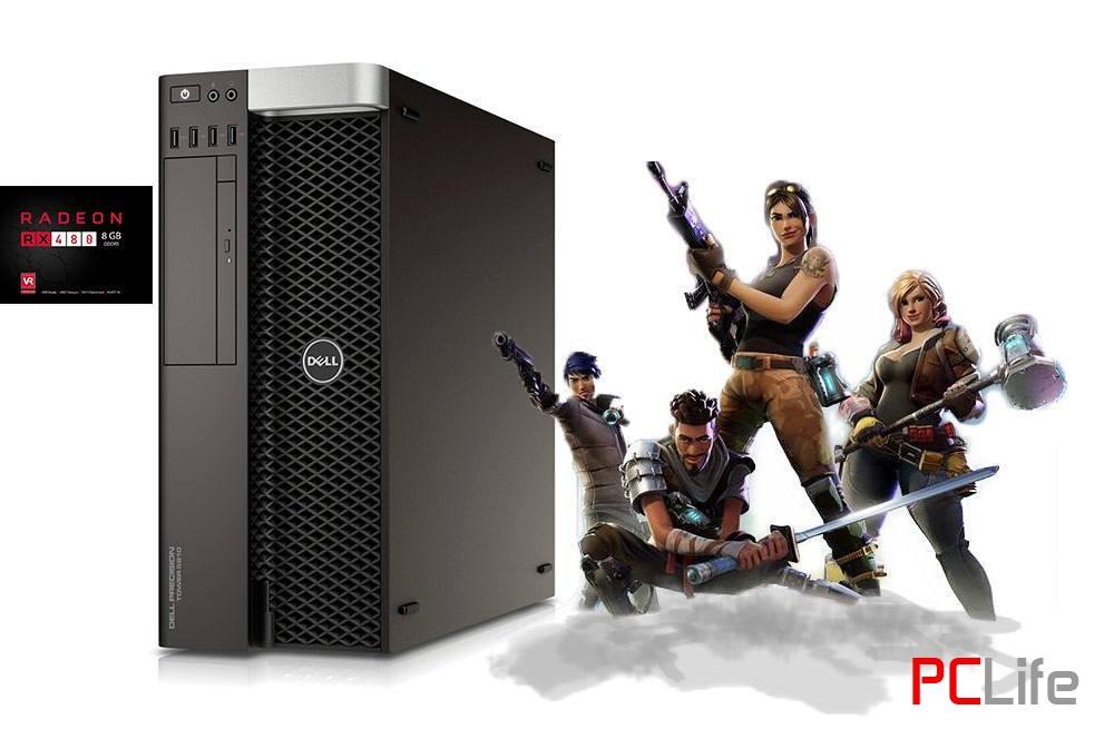 DELL PRECISION T5810 Intel Xeon E5-1620v3, 16GB DDR4, 256GB-SSD, AMD Radeon RX 480 8GB - геймърски компютри втора ръка