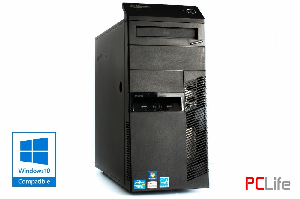 LENOVO ThinkCentre M81 T i5-2400 8GB HDD с Windows 10 - компютри втора ръка