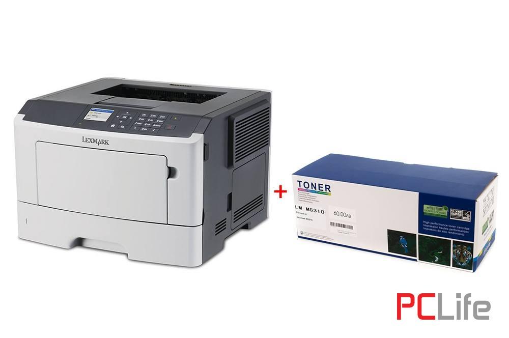 Lexmark MS415dn с нова касета за 5 000 копия - принтери втора ръка