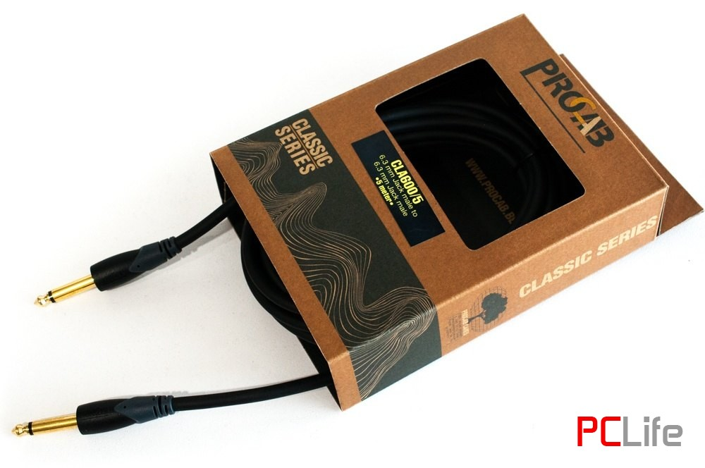 Procab CLА600/5, 6.3mm. Jack M Mono-6.3mm. Jack M Mono, 5m. - аудио кабели