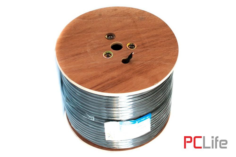 Комбиниран висококачествен коаксиален кабел RG59 със захранване 2*0.75mm. - кабели за видеонаблюдение, LAN мрежи
