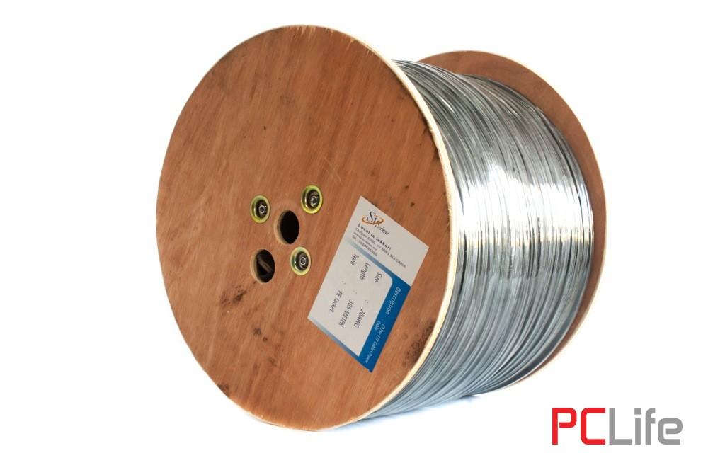 LAN кабел FTP CAT5e -  меден+два помеднени захранващи проводника 2*1.00mm - кабели за видеонаблюдение, LAN мрежи