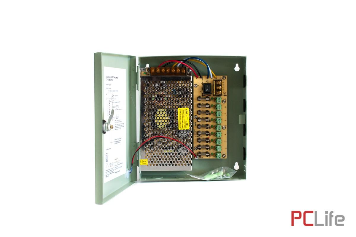 Захранване 12V15A - метална кутия. подходящ за различни слаботокови системи