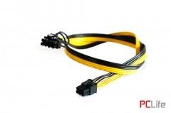 1х6pin Male to 1х8pin Male (6+2 pin), 18AWG, 80 см - кабели