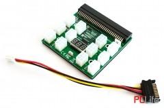 Платка преходна Breakout Board с конектори за 12 PCI-E 6pin кабела