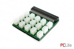 Платка преходна Breakout Board с конектори за 15 PCI-E 6pin кабела