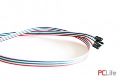 Power Button за включване/изключване на риг/машина. С LED диодна подсветка на power и на HDD. 65см - кабел бутон