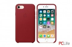APPLE iPhone 7/8 leather case Red MQHA2ZM/A - калъф/п