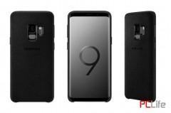 Samsung Galaxy S9 Alcantara Cover, Black EF-XG960ABEGWW- калъф/протектор/ за Samsung Galaxy