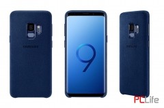Samsung Galaxy S9 Alcantara Cover, Blue EF-XG960ALEGWW- калъф/протектор/ за Samsung Galaxy
