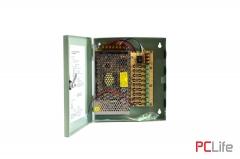 Захранване 12V10A - метална кутия. подходящ за различни слаботокови системи