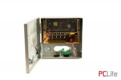 Захранване 12V5A - метална кутия. подходящ за различни слаботокови системи-в метална кутия